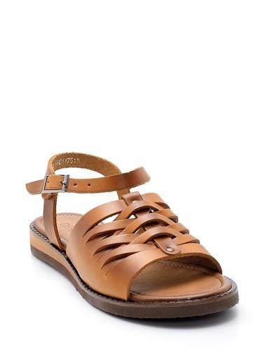 Derimod Hakiki Deri Sandalet Taba